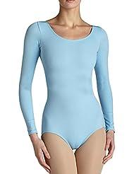 Body Manga Larga Mono Para Mujer De Ballet Camisa Blusa