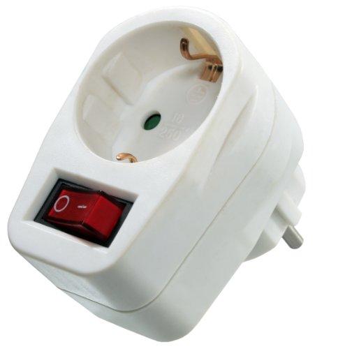 as - Schwabe Energiespar Schutzkontaktsteckdose mit Ein-/Aus-Schalter, weiß, 45037 -