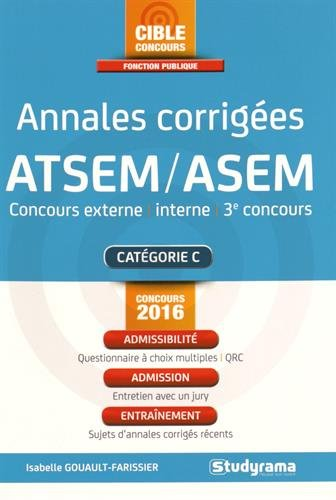 Annales corriges ATSEM/ASEM