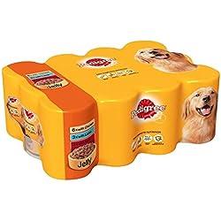 12 boîtes de nourriture pour chiens Pedigree - Viande en gelée - 385g chacune