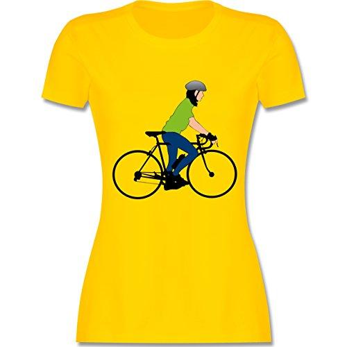 Radsport - Rennrad Fahrrad - tailliertes Premium T-Shirt mit  Rundhalsausschnitt für Damen Gelb