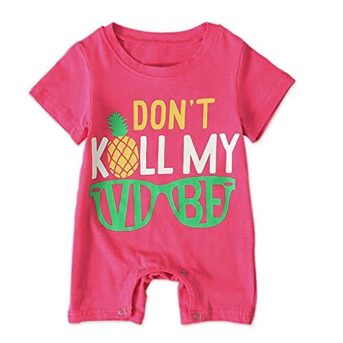 Baby Neugeboren Babykleidung Baumwolle Kleinkind Infant Baby Jungen Mädchen Cartoon Brief drucken Overall Strampler Kleidung Outfits Schwarz Rot Allence