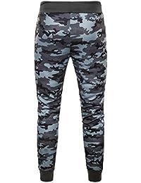 Pantalones hombre camoflage,Sonnena Deportivo Jogger Patrón de vintage floral estampado Estilo Urbano Elástico Pantalones…