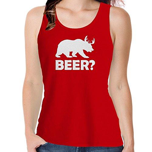 Snoogg Bier ???Baumwolle Damen Mädchen Freizeit Westen Sleeveless Tank Tops Leibchen Beach Wear