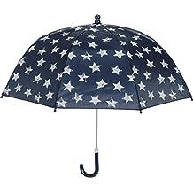 Playshoes Kinder Regenschirm Sterne, Paraguas para Niñas