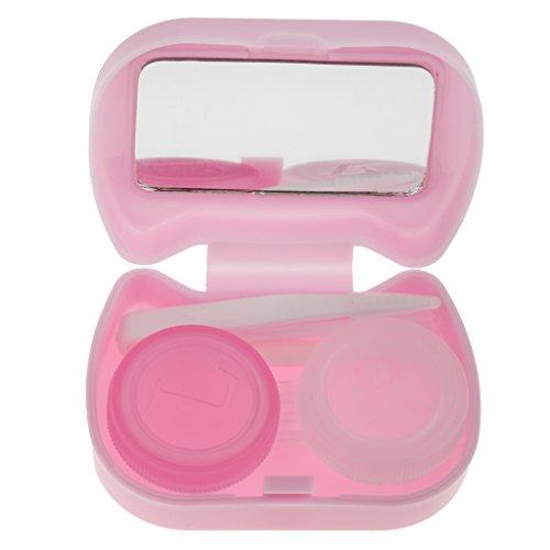 Süß-Katze-Form Kontaktlinsenbehälter Linsenbox für Reise Diesereise Schule - Lila, XL