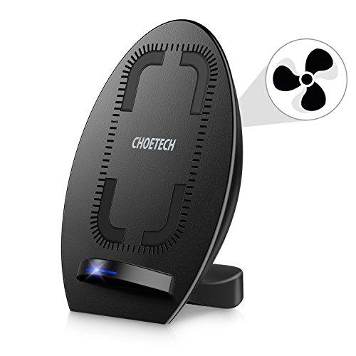 Cargador Inalámbrico Rápido CHOETECH Qi Soporte Wireless Charger Carga...