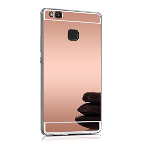 kwmobile Spiegel Hülle für Huawei P9 Lite TPU Silikon Case Handy Cover, Schutzhülle in Rosegold spiegelnd
