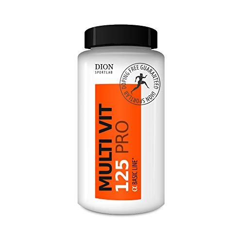 Dion Sportlab | MULTI VIT 125 | Combine des vitamines, minéraux et oligo-éléments | Pour le sport et l'exercice physique | Pour satisfaire aux besoins accrus du sportif | 60 tab.