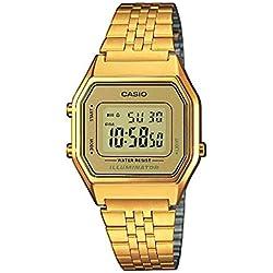 Casio Reloj Mujer de Digital con Correa en Acero Inoxidable LA680WEGA-9ER