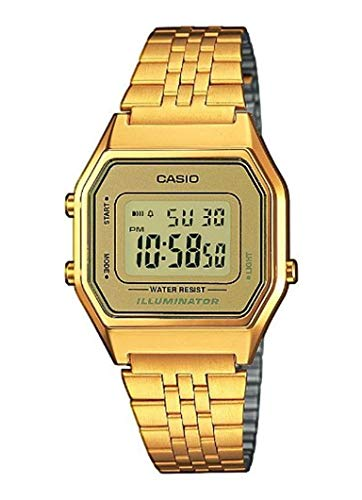 Casio Collection DamenRetro Armbanduhr LA680WEGA-9ER - Uhren Casio Frauen Gold