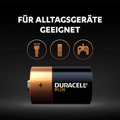 Duracell Plus Power Typ D Alkaline Batterien, 4er Pack - 3