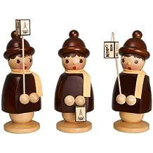 Niños de la linterna de 3 niños de la linterna - la altura sin pintar 250 milímetros de madera figura OTRA VEZ las figuras montañas de madera del mineral