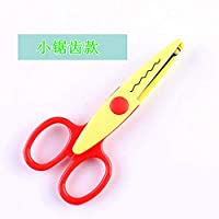 WUSYO 3pcs Metal Plastic Photo Scissors Paper Lace Diary Decoration,6