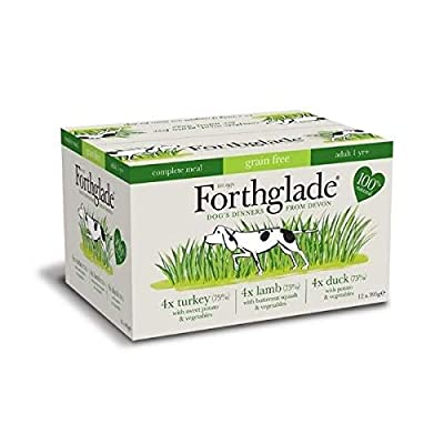 Forthglade Complete Multi Meal Adult Turkey Lamb Duck Grain Free Dog Food (12x395g) from Forthglade