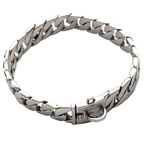 MUJING Goldkette Hundehalsband - Pet Training Halsbänder, Edelstahl Heavy Duty Cuban Link, Halskette Choke für Bully Pitbull, Bulldogge, Mastiff, große Rassen...