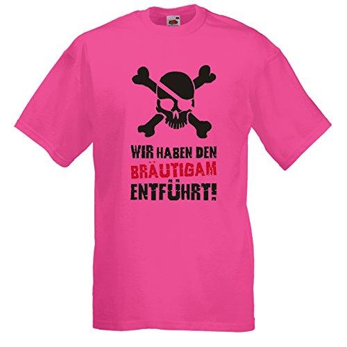 aben Den Bräutigam Entführt für Den Junggesellenabschied (Männer) in Pink, Größe L ()