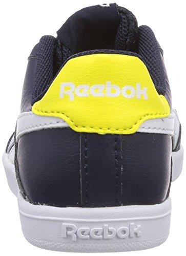 Reebok Royal Effect, Chaussures de course garçon Bleu - Blau (Faux Indigo/White/Stinger Yellow)