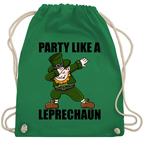St. Patricks Day - Party like a Leprechaun - Unisize - Grün - WM110 - Turnbeutel & Gym Bag