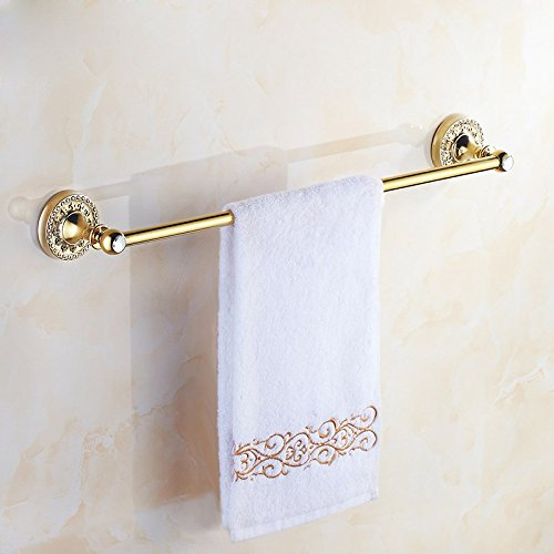 ZHGI Placcato oro Golden stile antico portasciugamani accessori bagno hardware serie di Diamante - Oro Lungo Diamante Set