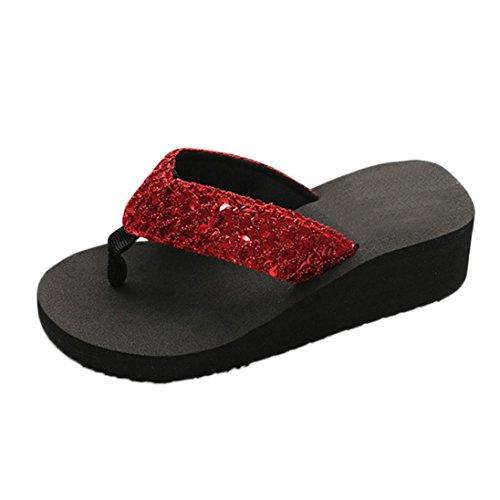 ccc67c52b1 LUCKDE Zehentrenner Sandalen Damen, High Heels Sandaletten Schuhe mit  Absatz Hausschuhe Pantoletten.