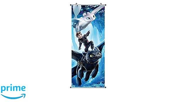 Drachenzähmen leicht gemacht Rollbild Kakemono Poster Ohnezahn 100x40cm