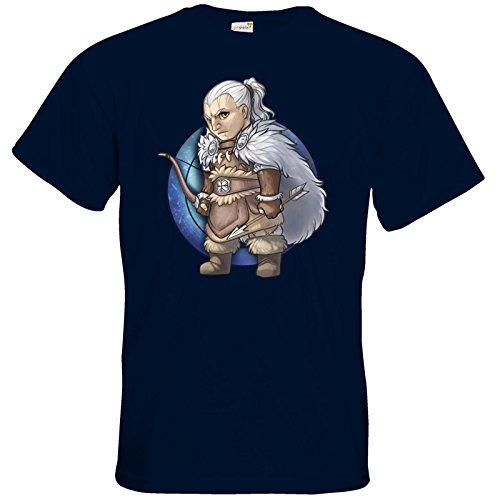 getshirts - Das Schwarze Auge - T-Shirt - Götter - Firun - Chibi Navy