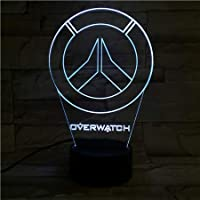 WoloShop LED Blizzard Overwatch Logo Changing Colour USB Night Light