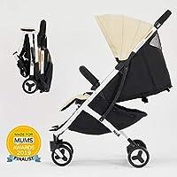 Allis Lightweight Baby Pram Pushchair Buggy Travel Stroller Plume - Beige