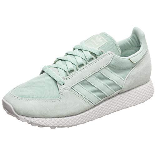 adidas Damen Forest Grove W Fitnessschuhe, Grün Blanub/Vercen 0, 39 1/3 EU - Adidas Winter Stiefel