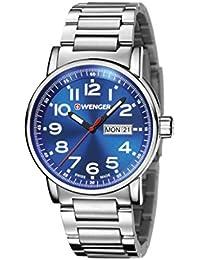 WENGER Unisex-Armbanduhr Analog Quarz Edelstahl 01.0341.105
