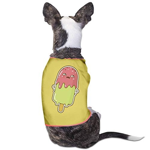 Jiaojiaozhe Kawaii Summer Ice Cream Pet Service Pet Clothing Funny Dog Cat Costume Tshirt Yellow (Ice Cream Girl Kostüm)