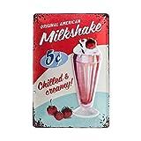 Nostalgic-Art 22255 USA - Milkshake, Blechschild 20x30 cm