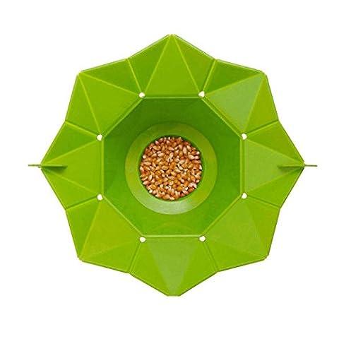 Upxiang Microwave Popcorn Magic Maker, Popcorn Tub Behälter für die Mikrowelle Silikon, Household Popcorn Maker Container, faltbare Silikon Schüssel, Mikrowellen Popcorn Healthy Cooking Tools (Grün)