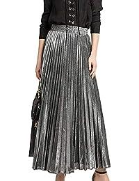 low priced d3802 02840 Amazon.it: Argento - Gonne / Donna: Abbigliamento