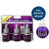 Feliway Classic Bünter (Vaporisateur + 3 flacons de Recharge 48 ML + Guide de Chat, Animal de Compagnie, 24