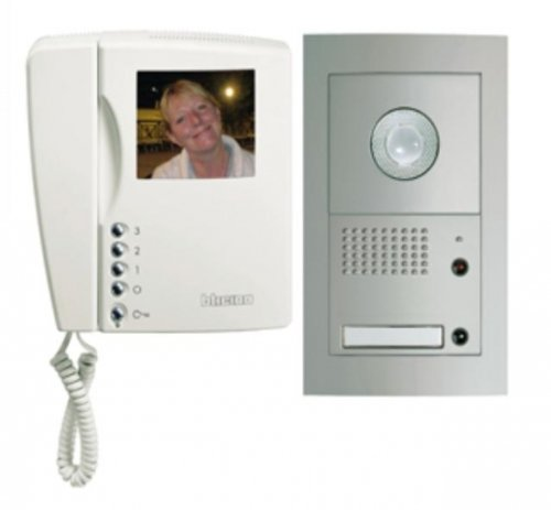 Video door intercom system, 1-family house, aluminum, BTICINO SFERA