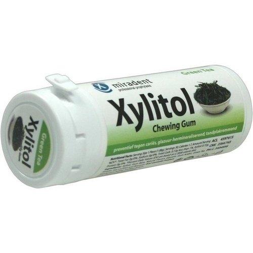 MIRADENT Zahnpflegekaugummi Xylitol grüner Tee 30 St Kaugummi
