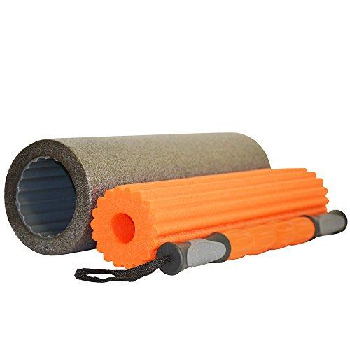 LIVEUP Foam Roller Rouleau de massage 3en 1, densité 'rouleaux?: haute, moyenne et rigide