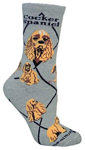 Gris Chien Cocker Spaniel femmes en coton chaussettes