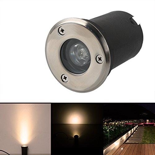 1W Led Bodeneinbaustrahler Einbaustrahler Warmweiß 230V AC IP67 Wasserdicht 90LM Gartenbeleuchtung Lamp Für Aussen