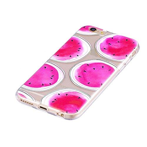 Coque iPhone 6/iPhone 6S, MSK® Silicone Soft Clear TPU Case Cover Souple de Protection Coque Flexible Lisse Couverture Anti Rayure Anti Choc Bumper Coque Housse Etui Pour iPhone 6/iPhone 6S - Panda Melon d'eau
