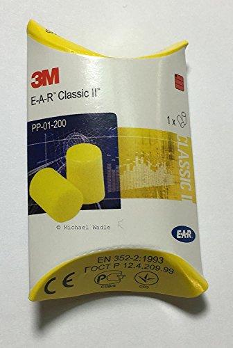 3M EAR Classic, 25 Paar paarweise verpackt, gelb, SNR = 28 dB, Gehörschutz, Ohrstöpsel, wadle-shop