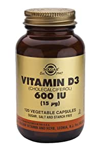 Solgar 15 mcg Vitamin D3 Vegetable Capsules - Pack of 120