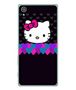 Fuson Designer Back Case Cover for Sony Xperia Z3+ :: Sony Xperia Z3 Plus :: Sony Xperia Z3+ dual :: Sony Xperia Z3 Plus E6533 E6553 :: Sony Xperia Z4 (Hearts Hello Kitty Cat Pink Love )