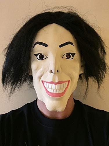 Kostüm Maske Michael Jackson - Rubber Johnnies Mask & Toy Co. Wacko Michael Jackson Maske Michael König von Pop Star Kostüm Party Jackson Masken