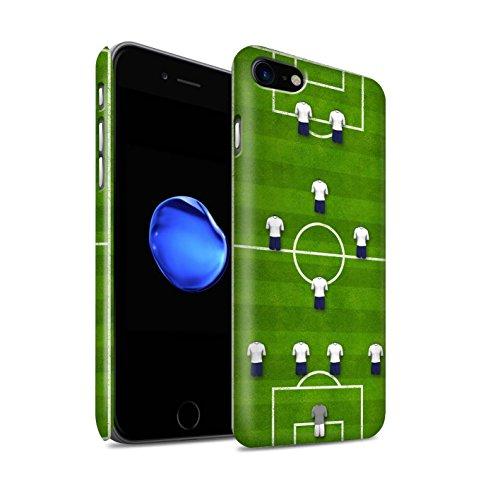 STUFF4 Matte Snap-On Hülle / Case für Apple iPhone 8 / 4-4-2/Weiß Muster / Fußball Bildung Kollektion 4-1-2-1-2/Weiß