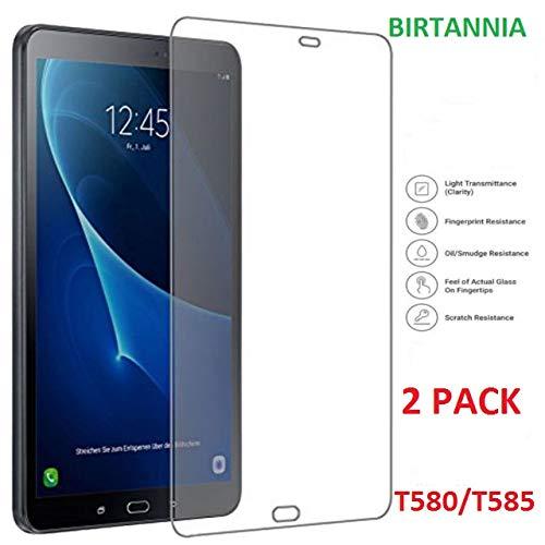 """vetro temperato tablet 10.1 Birtannia - [2 pezzi] Pellicola proteggi schermo in vetro temperato per Samsung Galaxy TAB A 10.1"""" [T580/T585] - [facile installazione senza bolle]"""