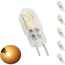 Bonlux 5-Pack 12V 3W G6.35 LED bianco caldo della lampadina 3000K Bipin JC Tipo 20W sostituzione LED G6.35 / GY6.35 lampadina per Desk Lamp, Accent, Display, Illuminazione paesista