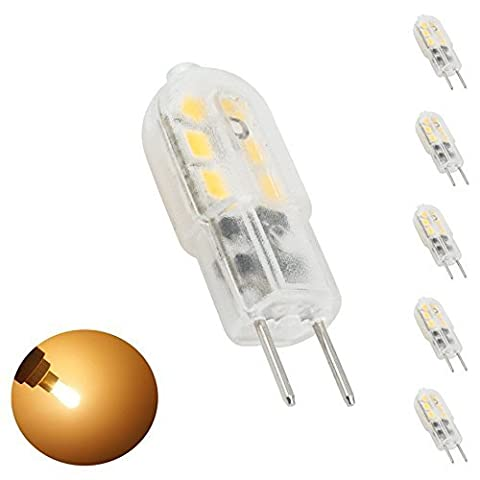 Bonlux 5-Packs 3W 12V G6.35 LED-Glühlampe Warmweiß 3000K Bipin JC Typ 20W Halogen-Ersatz LED G6.35 / GY6.35 Birne für Schreibtischlampe , Accent, Display, Landschaftsbeleuchtung